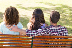 Man being unfaithful in the park Royalty Free Stock Image