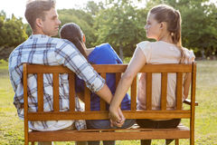 Man being unfaithful in the park Stock Photos