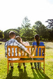 Man being unfaithful in the park Royalty Free Stock Photography
