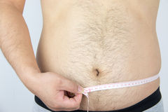 Man belly Stock Image