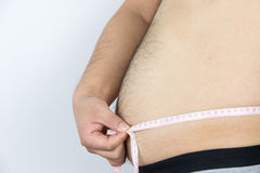 Man belly Stock Photo