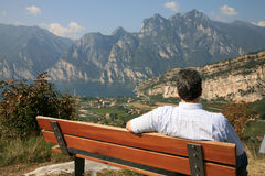 Man on a bench Royalty Free Stock Images