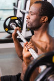 Man on bench press. Stock Photography