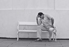 Man on bench Royalty Free Stock Images