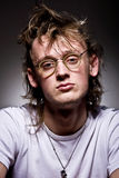Man bespectacled. Portrait of the young person bespectacled Royalty Free Stock Photo