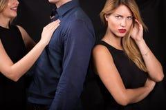 Man betraying his girlfriend Stock Photo