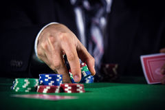 Man betting on the casino Stock Photography