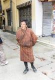 Man in bhutanese costume Stock Photos