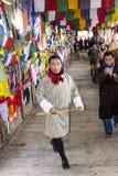 Man in bhutanese costume Stock Photo