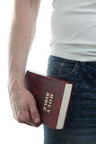 Man with the Bible Stock Photo