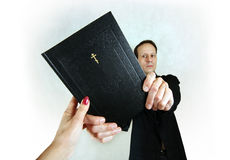 Man with bible Stock Photos