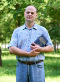 Man with a Bible in his hand Stock Photos