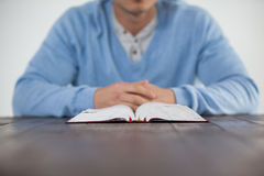Man with a bible Royalty Free Stock Photo