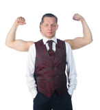 A man with biceps Royalty Free Stock Photography