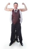 A man with biceps stock photo