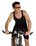 Man with bicycle Royalty Free Stock Photo