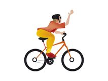 Man on bicycle cartoon Stock Photos