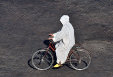 Man on bicycle in Marrakech Royalty Free Stock Photography
