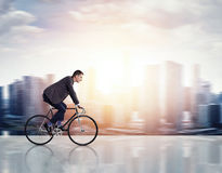 Man on a bicycle Stock Photography