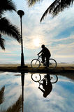 Man on the bicycle Royalty Free Stock Photography