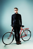 Man with bicycle Royalty Free Stock Images