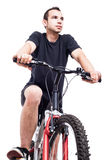 Man on bicycle Royalty Free Stock Photos
