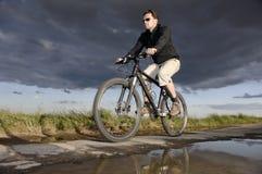 Man bicycling Royalty Free Stock Photo