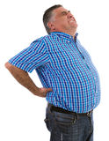 Man with a big backache Stock Photos