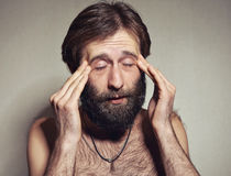 The man with a big beard and mustaches Royalty Free Stock Images