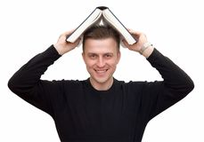 Man with big book Stock Photo