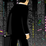 Man In The Big City Stock Photos