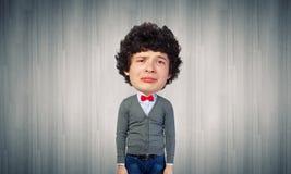 Man with big head Stock Photo