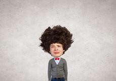Man with big head Royalty Free Stock Image