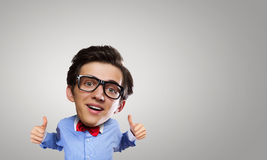 Man with big head Royalty Free Stock Photography