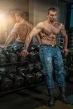 Man with big muscles. Royalty Free Stock Photography