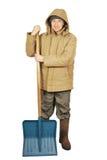 Man with a big spade Stock Photos