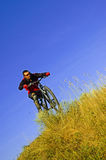 Man on the bike Stock Images
