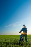 Man on bike Royalty Free Stock Photo