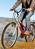 Man and bike. Royalty Free Stock Photography