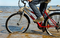Man with bike. Royalty Free Stock Photos