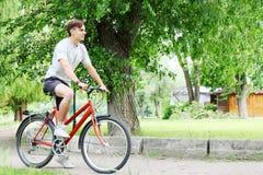 Man on bike Stock Photography