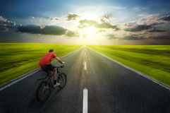 Man biking Royalty Free Stock Image