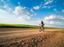 Man biking Royalty Free Stock Photos