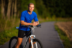 Man biking Royalty Free Stock Photography