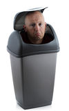 Man in bin Royalty Free Stock Photo