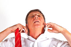 Man binding his tie Royalty Free Stock Photo