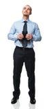 Man with binocular Stock Images