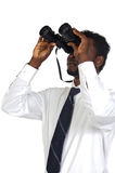 Man with binoculars Stock Images