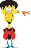 Man and bird Royalty Free Stock Image