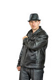 Man in black Stock Images
